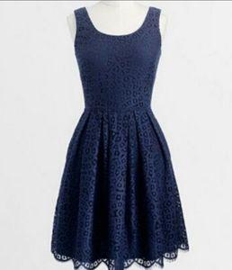J Crew Classic Navy Blue Lace Dress